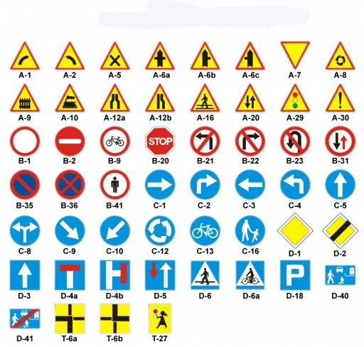 Znalezione obrazy dla zapytania znaki drogowe
